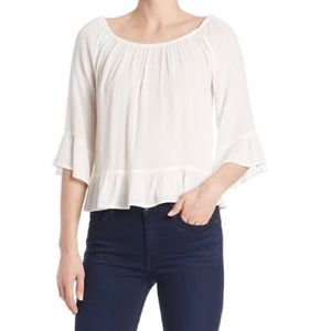 SANCTUARY Julia Ruffled Bell Sleeve Casual Top S